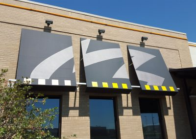 Commercial Awning and Shades Black