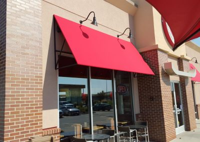 Commercial Awning Red