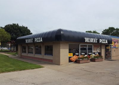 Commercial Covered Awning Black