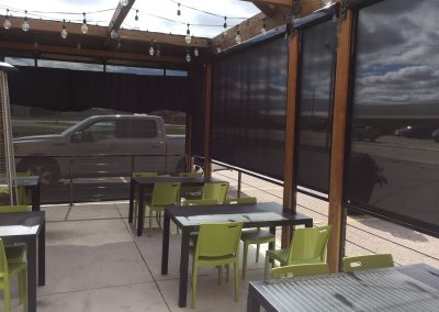 Commercial Retractable Sun Screens Shades